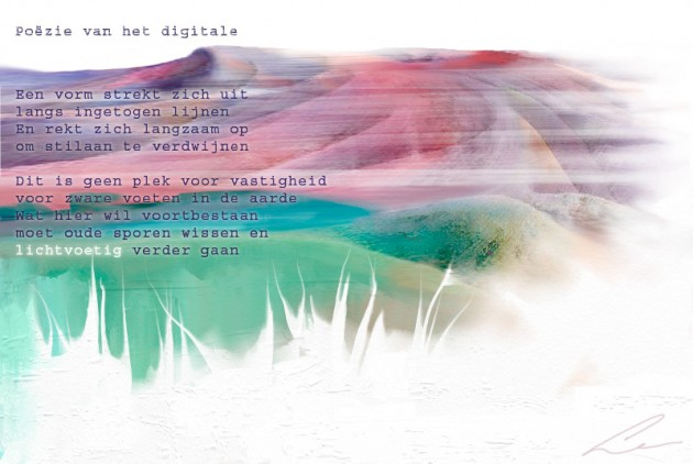 Poëzie van het digitale